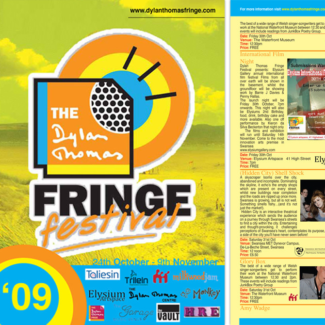 Leaflet Design - Folded Festival Leaflet