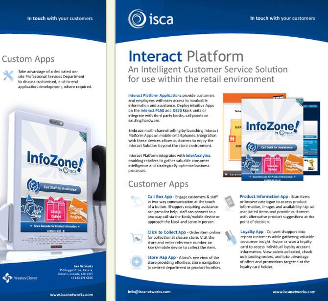 Leaflet Design Example - A4 Sized Business Leaflet