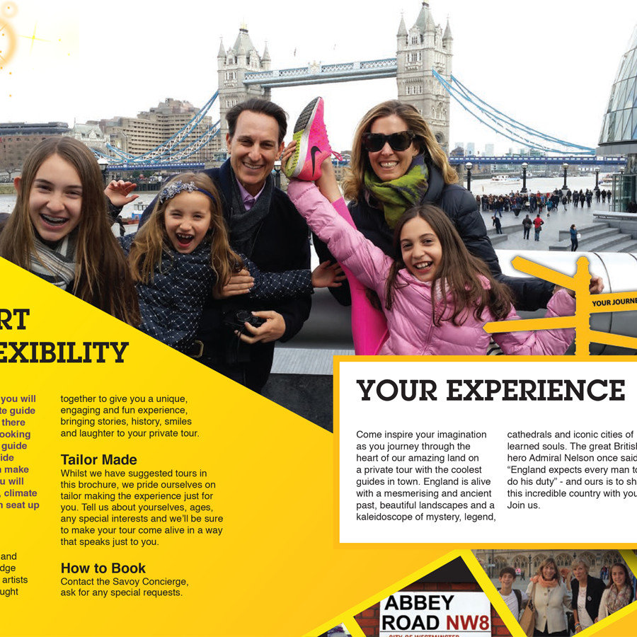 Brochure design inside pages - Yellow Moon Tours