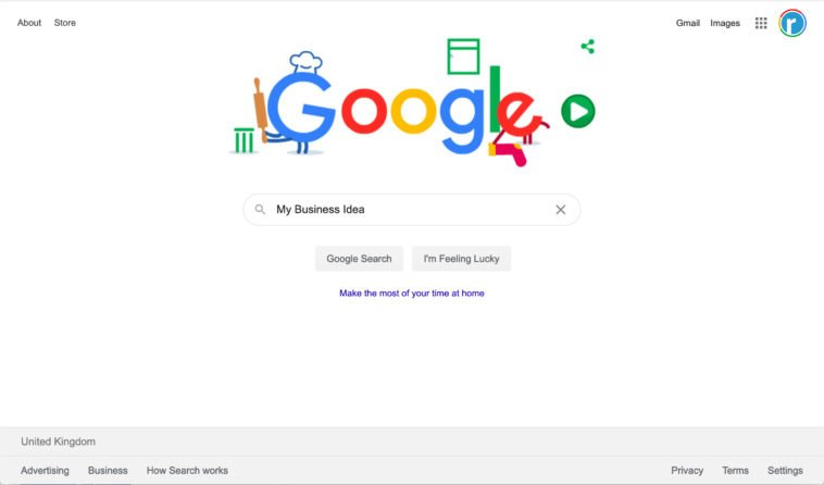 Google Home Page for SEO