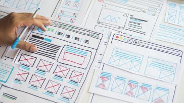 Web Design Interface Plans