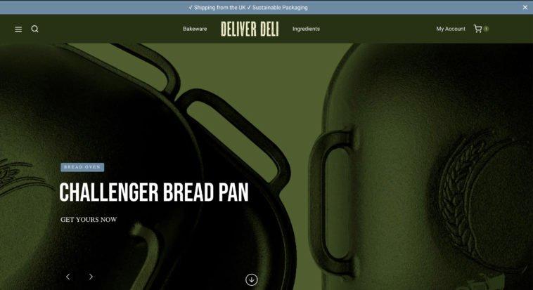 DeliverDeli website - Challenger Bread Pan banner
